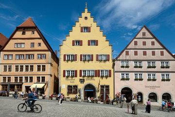 Rothenburg ob der Tauber  Deutschland  der mittelalterliche Marktplatz