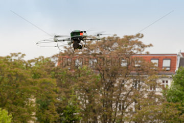 Berlin  Deutschland  Praesentation der Drohne der Berliner Polizei