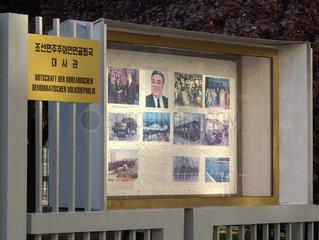 Berlin  Deutschland  Botschaft Nordkorea