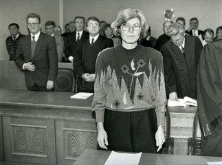 Prozess gegen Gabriele Gast  DDR-Spionin  1991