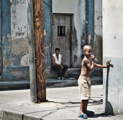 Santiago de Cuba  Kuba  Strassenszene