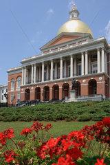 Boston  USA  das State House  Parlament von Massachusetts  am Boston Common