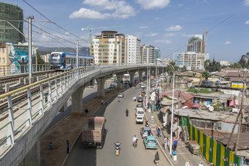 Stadtansicht von Addis Abeba
