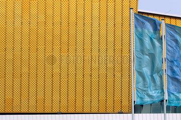 Detail der Aussenfassade der Berliner Philharmonie