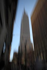 New York City  USA  Empire State Building in Manhattan