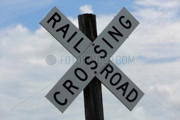Merritt Island  Vereinigte Staaten von Amerika  Schild - Railroad Crossing -