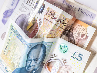 Britische Pfundnoten