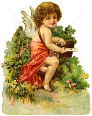 Amor  Liebesengelchen  Poesiebild  1895