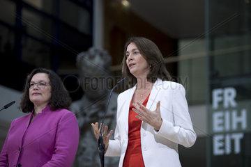 Andrea Nahles  Katarina Barley - SPD top candidate European elections