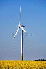 Deutschland  Windkraftanlage bei Oster-Ohrstedt