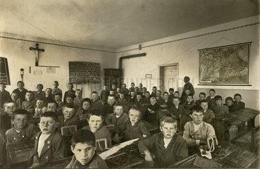 bayerische Schulklasse  1914