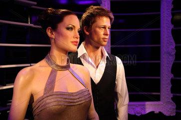 Berlin  Deutschland  Angelina Jolie und Brad Pitt in Madame Tussauds Wachsfigurenkabinett
