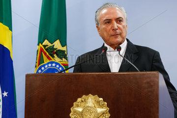 BRAZIL-BRASILIA-POLITICS-PRESIDENT-BRIBERY