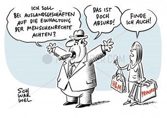 Deutsche Unternehmen im Ausland : Wirtschaft gegen Menschenrechte-Gesetz