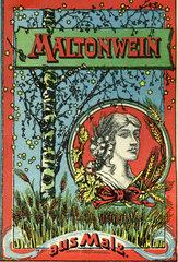 Maltonwein  Malzwein  Werbung  1899