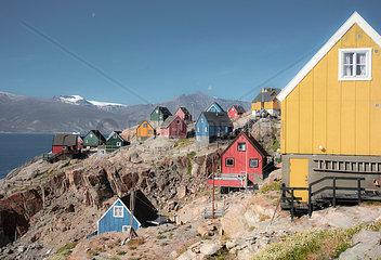 Siedlung auf Groenland  Uummannaq