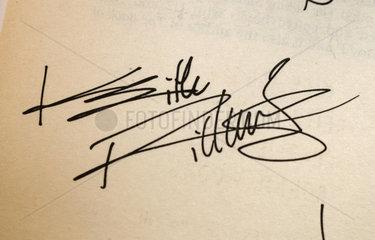 Mick Jagger Autogramm