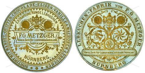 Nuernberger Lebkuchen  F.G.Metzger  1885