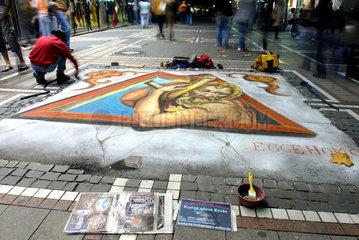 Strassenmaler in Frankfurt