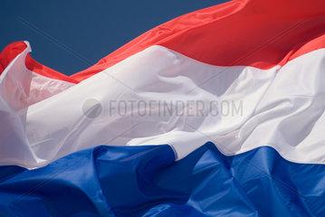 Frankreich  wehende Flagge der Niederlande