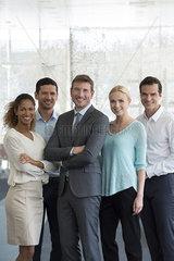 Team of professionals  portrait