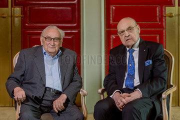 Berlin  Deutschland  Egon Bahr  SPD  und Wilfried Scharnagl  CSU