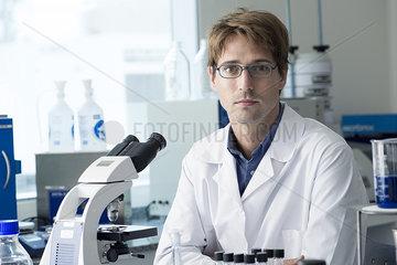 Scientist in laboratory  portrait