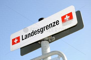 Landesgrenze der Schweiz bei Kreuzlingen