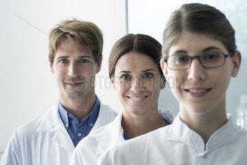 Team of scientists  portrait
