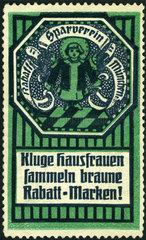 Rabatt-Sparverein Muenchen  Werbemarke  1912