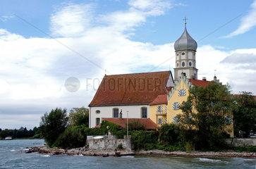 Blick auf Wasserburg am Bodensee