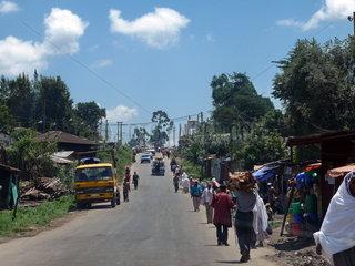 Strassenszene in Addis Adeba