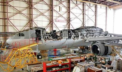 Ein Airbus A330 von Qatar Airways nach einem Kabinenbrand