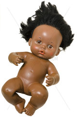 farbige Puppe  Baby  1972