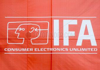 Berlin  Werbetransparent der IFA-Messe in Berlin