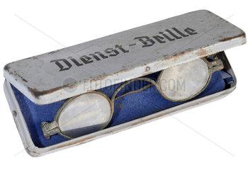 alte Dienstbrille  Brillenetui  1935
