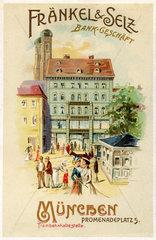 Muenchner Bankhaus Fraenkel & Selz  Werbung  1899