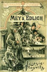 Weihnachtskatalog Mey & Edlich  Leipzig  1890