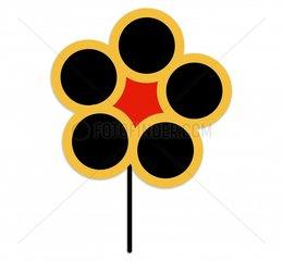 Blume grafisch freigestellt