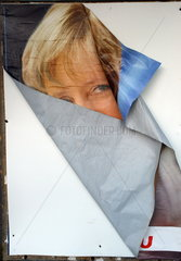 Verschleierte Bundeskanzlerin Angela Merkel