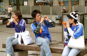 WM 2006  Japanische Fans in Dortmund