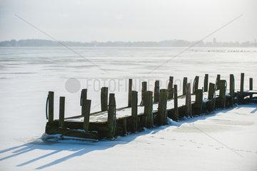 Bad Zwischenahn  Deutschland  Winter am Zwischenahner Meer