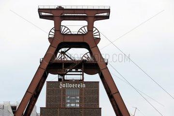 Der Schacht 12 in der stillgelegten Zeche Zollverein in Essen