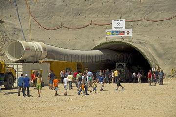 Baustelle des ICE-Bahntunnel Susannetunnel bei Hohenstadt