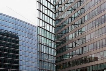 Glasfassaden an der Europaeischen Kommision in Bruessel