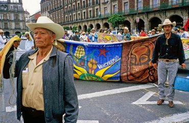 Zapatisten Kundgebung auf dem Zocalo in Mexiko City