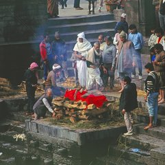 Verbrennungsplatz in Kathmandu