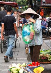 Hanoi  Vietnam  Marktfrau