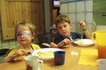 Mittagessen im Kindergarten in Saarbruecken