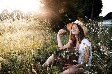 Spass in Wildblumenwiese
